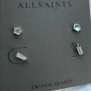 All saints stud earrings